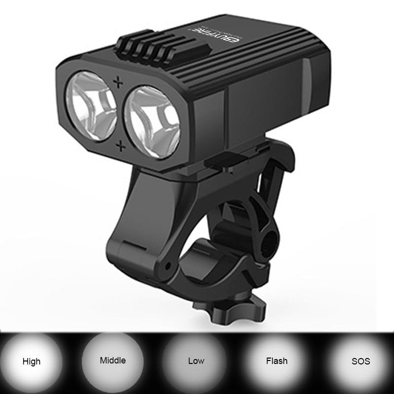 2019 Mini Bicycle Light 2 Led 5 Mode 2000mah Usb Rechargeable