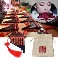 Pan Flute 15 Pipes G Model Pan Pipe Natural Music Wind Hand painted Tube Palace Classic Chinese Style