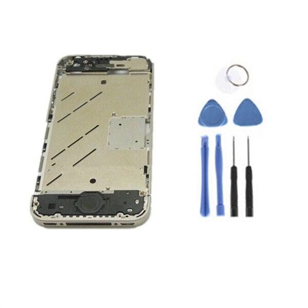 dd640d8b447 100% original completa a Marco en medio de la Asamblea Midframe teléfono  celular carcasas para iPhone 4S + herramientas en Teléfono Móvil carcasas  de ...