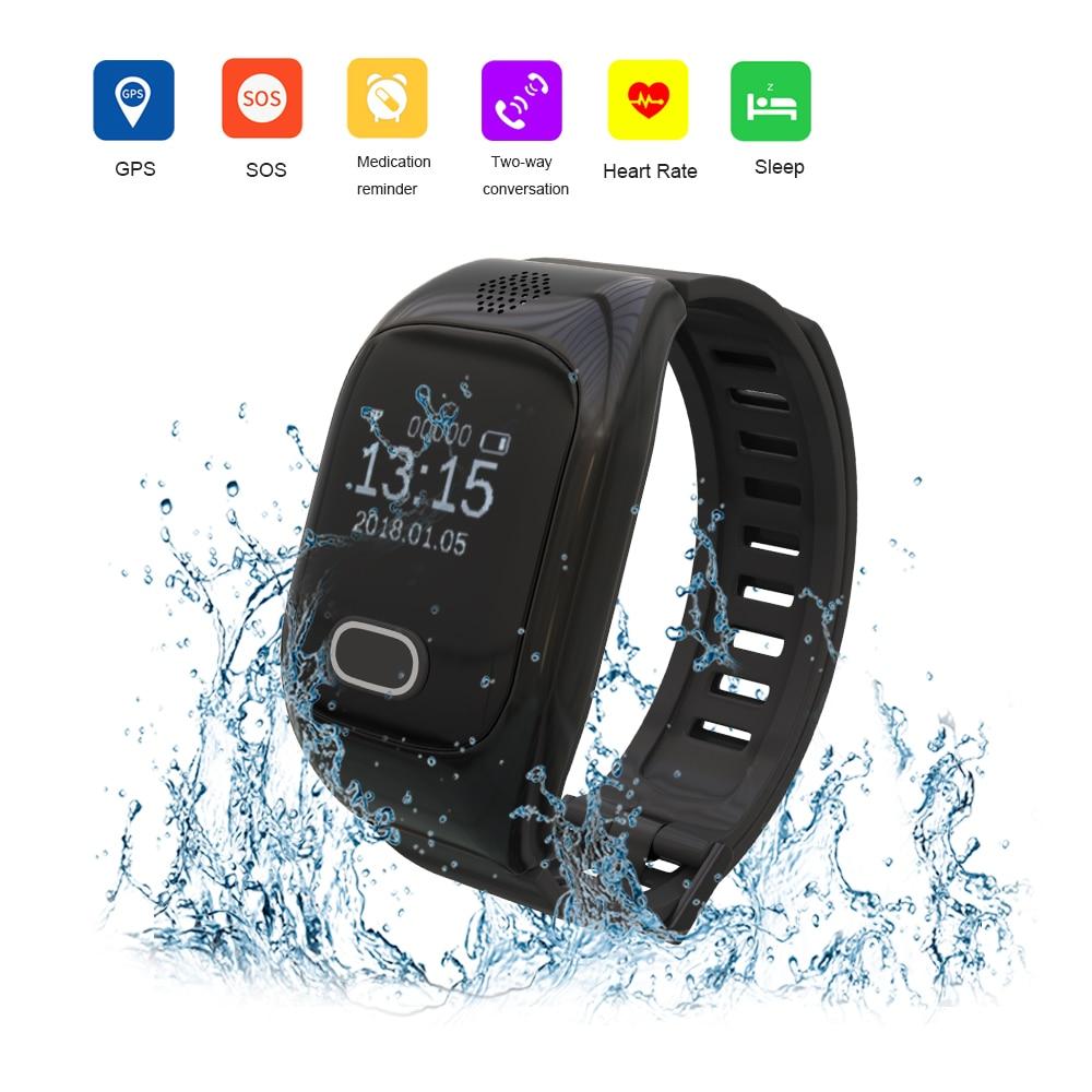 5 шт. умные часы для пожилых детей Смарт часы, телефон SOS анти потерянный Gps + Wifi отслеживание часы для IOS Android телефоны старые мужчины женщины