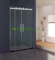 Ing דלת חדר מקלחת מקלחת רצועת חדרונים בריטניה Chinahotel זכוכית דלת הזזה חדר אמבטיה מקלחת סיטונאי סין