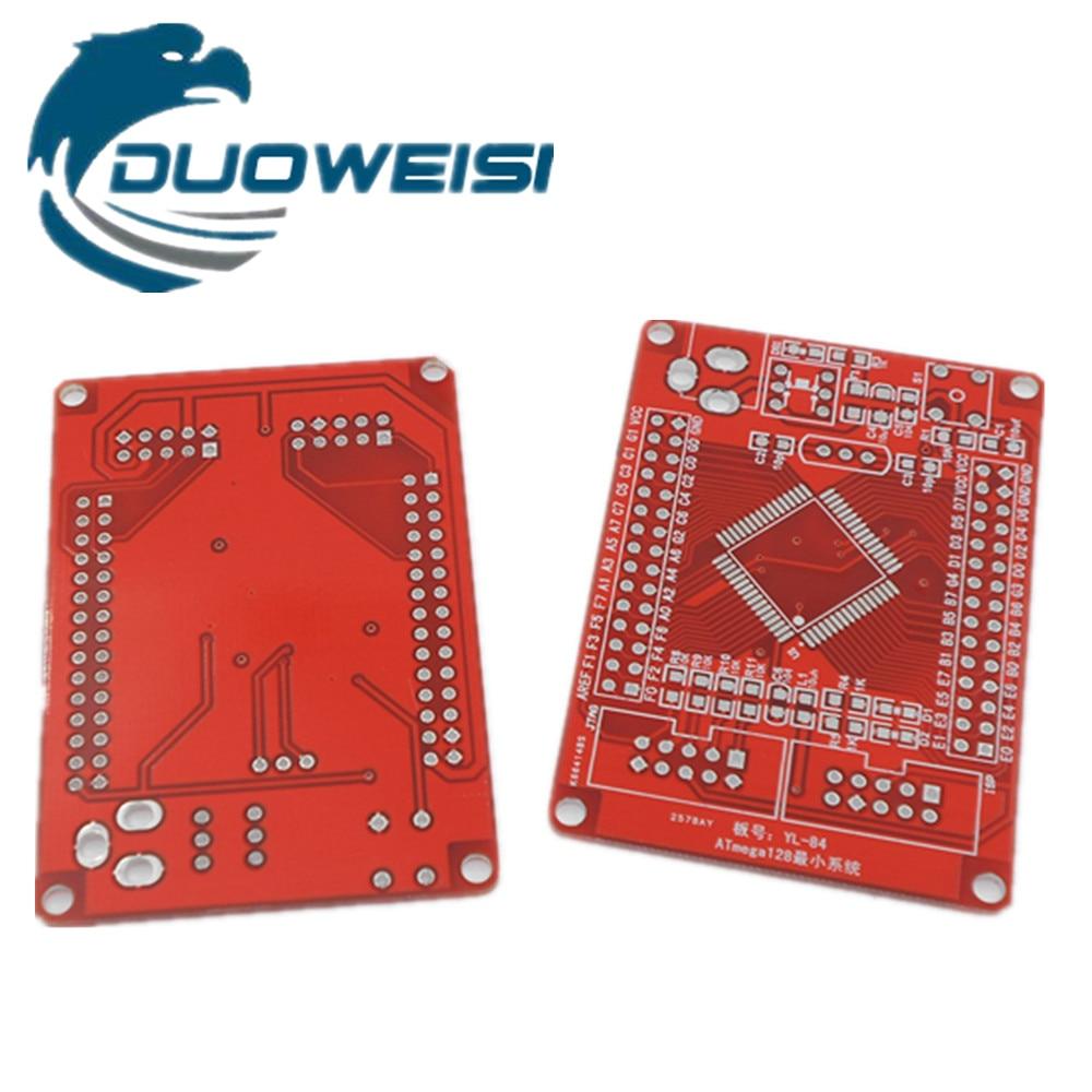 AVR Development Board / Minimum System PCB Blank Board (ATMEGA128 PCB Empty Board) Red Empty Board