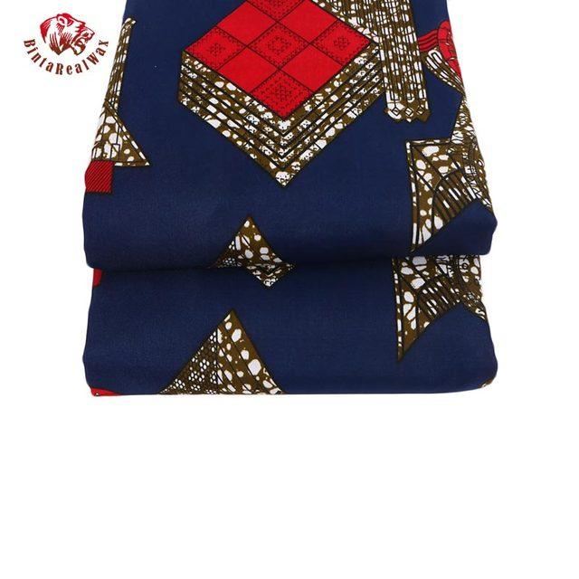 100% Polyester Wax Prints Fabric 2018 Ankara Super Hollandais Wax High Quality African Fabric for Party Dress PL584 4