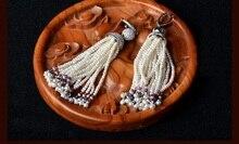 2017 Earings Oorbellen Qi Xuan_Trendy Seawater Pearl Earrings Thai Sterling Ear Ornament Retro Personal_Factory Outletsity