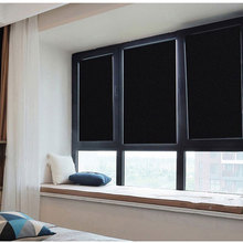 70/80/90*200cm Window Blackout Film Anti-UV 100% Light Blocking Privacy Static Cling Frosted Glass Sticker Decorative Vinyl