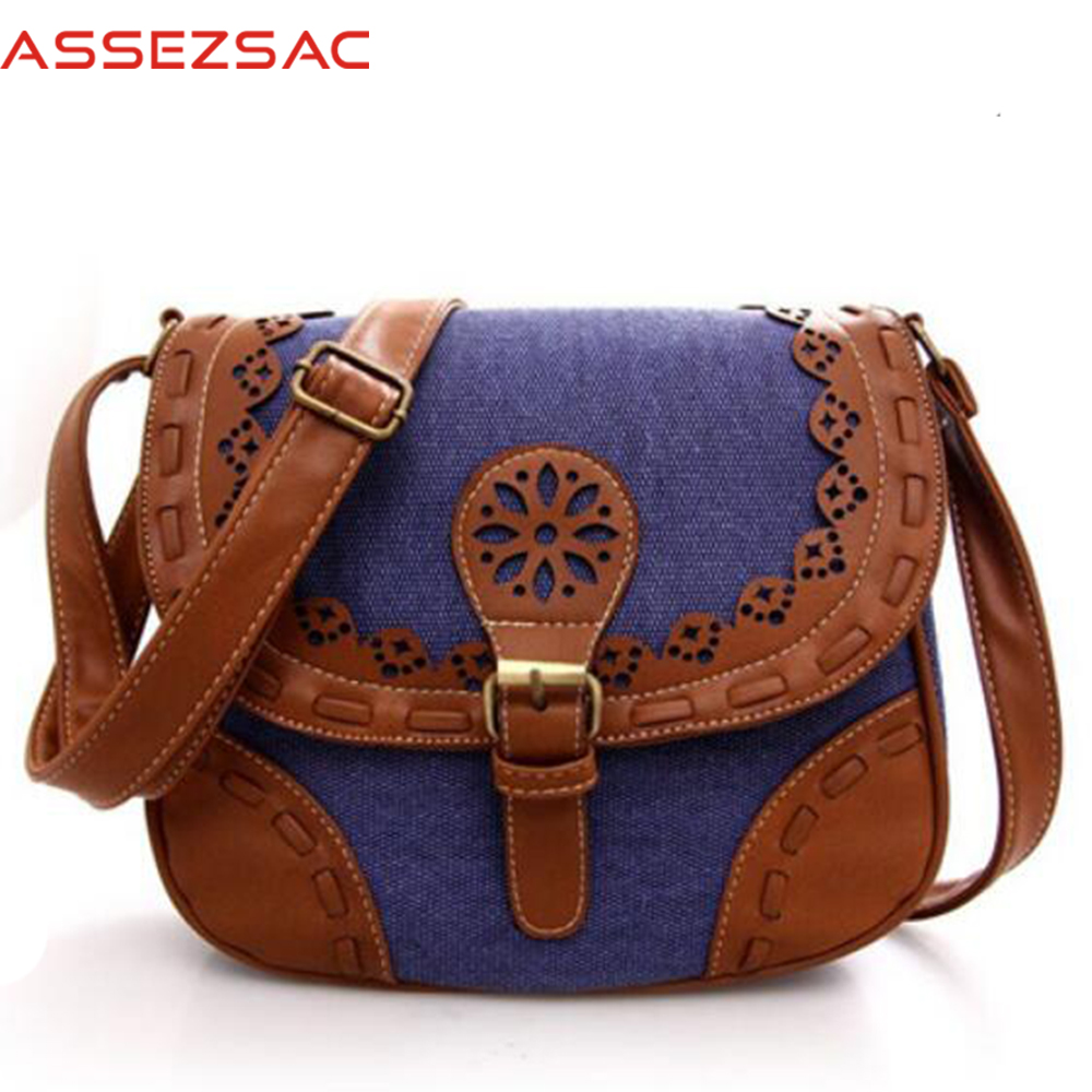 Assez sac fashion women messenger bags mini single shoulder handbags panelled canvas han ...