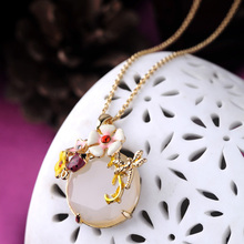 Gem Insects Flower Necklace & Pendants