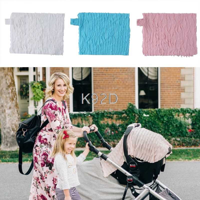 Newborn Infant Nursing Lace Stretchy Cover Baby Car Seat Canopy Cradle Cover Sun Shade J12