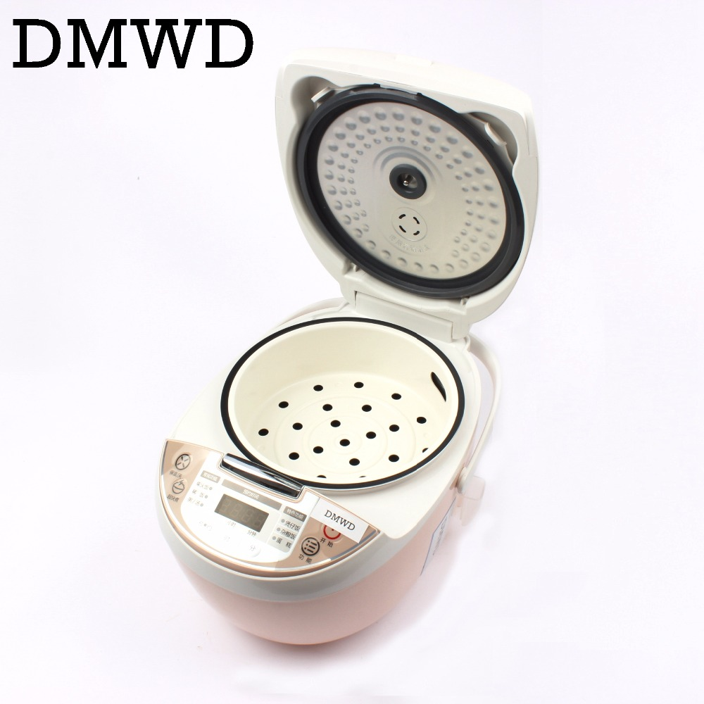 Smart mini electric rice cooker small household intelligent reheating rice cookers kitchen pot 3L for 1-2-3-4 people EU US plug 2l 3l 4l 5l 6l latest technology gold rice cooker pot aluminum alloy tank for intelligent rice cookers