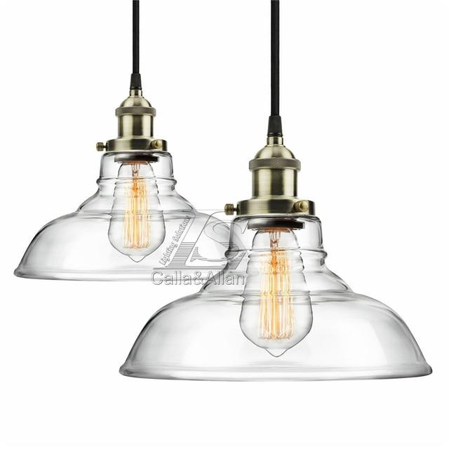 a1ddec7b7 Montado No Teto Luminária pendente de vidro Moderna Industrial Edison  Vintage Estilo pingente pendurado luz pingente