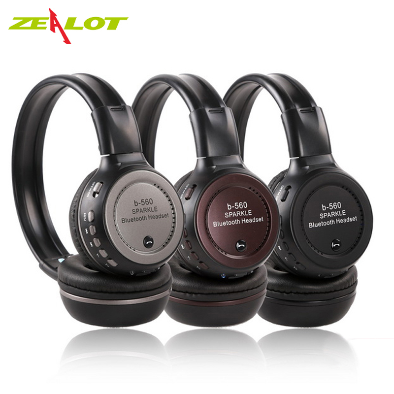 ZEALOT B560 Bluetooth Headphones Stereo Headset Bass Earpods With Mic HD Hifi Earphone TF Card for Iphone Samsung Xiaomi HTC broadcore bluetooth headphones music earphone stereo foldable headset tf card with mic microphone for iphone 6s galaxy 30dec8