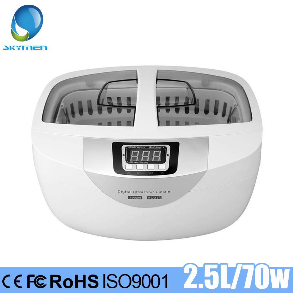 SKYMEN 2500ml Ultrasonic Cleaner Heating Jewelry Stones Cutters Manicure Tools Toothbrush Watches Eyeglasses Shaver Timer Bath