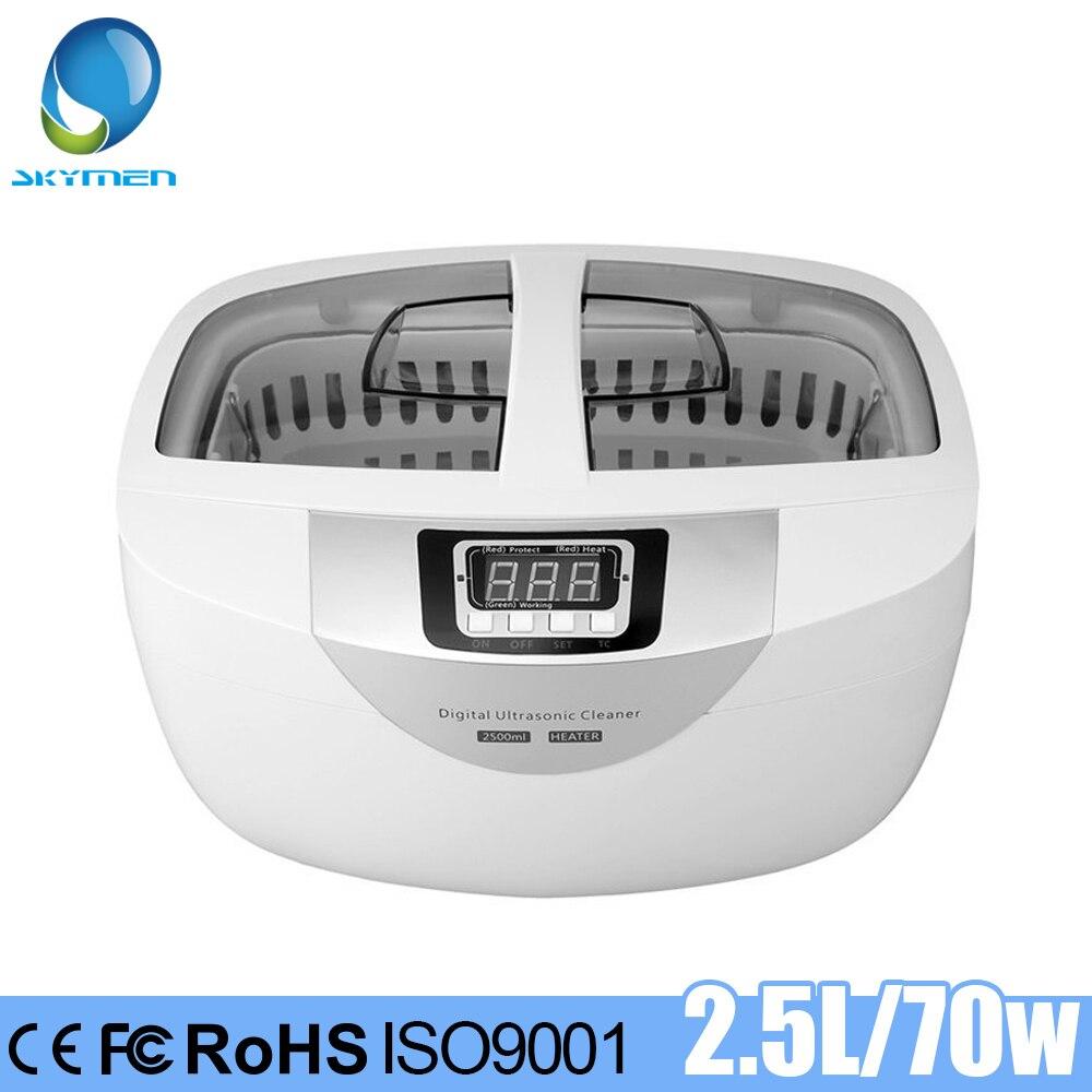 SKYMEN 2500ml Ultrasonic Cleaner Jóias Pedras de Aquecimento Relógios Óculos de Cortadores de Manicure Ferramentas Escova De Dentes Barbeador Temporizador Banho