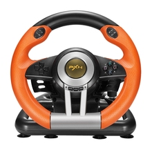 Game Steering Wheel V3II Racing Game Controller Joystick with Foldable Pedal Compatible with PC PS3 PS4 ITSYH  LF01-1367 все цены
