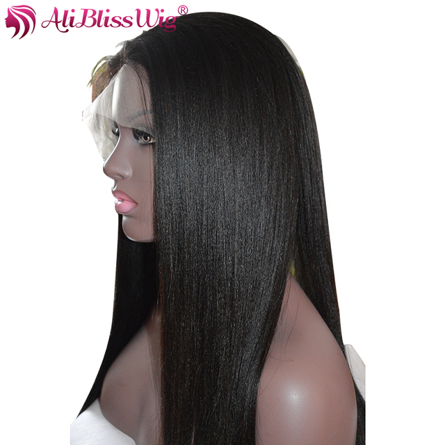 Aliblisswig Full Lace Human Hair Wigs With Baby Hair Light Yaki