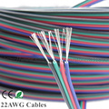 Tinned copper 22AWG led RGB cable,4 pin RGB cable PVC insulated wire, 22 awg UL2468 strip extension connect wire free shipping