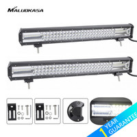 MALUOKASA 20/22inch 54000LM/64800LM Truck Spotlight 540W/648W LED Light Bar Car DRL Headlamp Work Light for SUV Jeep Wrangler