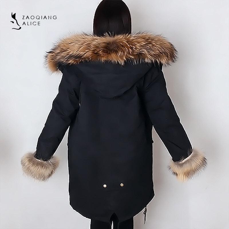 Length Avec Chien customize De Style Femmes Manteau Laveur as Parka Lapin Chaud Color Raton Picture hiver Vraiment Fourrure Fourrures Capuche q66P8w