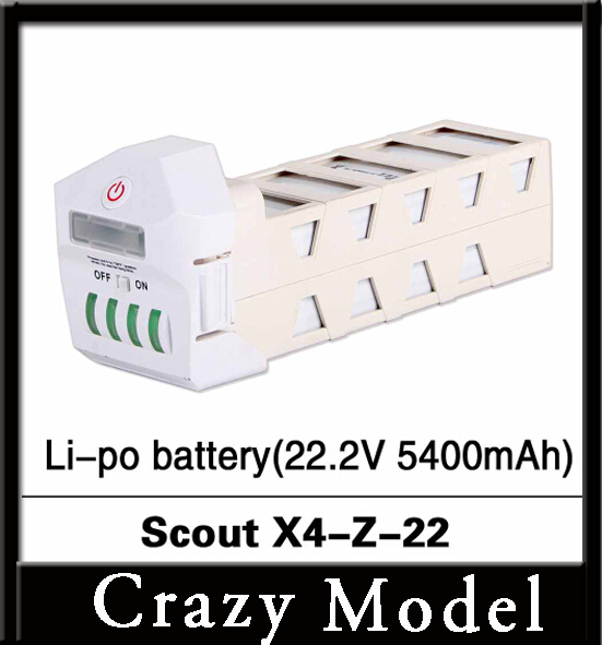 100% Original Walkera Scout X4 Li po battery(22.2V 5400mAh) Scout X4 Z 22 White Black Grey RC Drone FPV helicopter|li-po battery|walkera scoutwalkera scout x4 - AliExpress