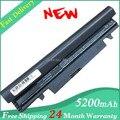 Envío de la nueva 5200 mah batería para samsung n145 n148 n150 n250 n250p n260 n260p plus negro