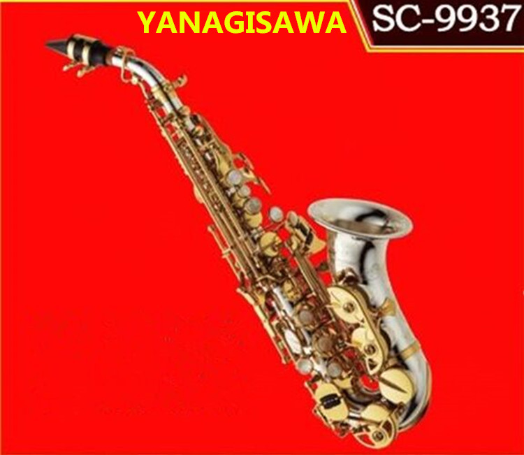 yanagisawa soprano Saxophone Curved Soprano SC 9937 Silvering Brass Sax Professional Mouthpiece Patches Pads Reeds High