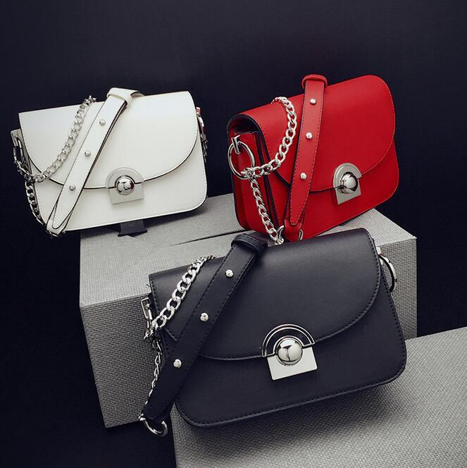 Newhotstacy sacchetto 112616 donne di nuovo modo della catena flap singolo sacchetto di spalla corssbody
