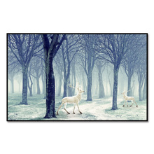 Factory wholesale (No Framed) Modern elk series Custom Canvas Print On Printing Wall Pictures
