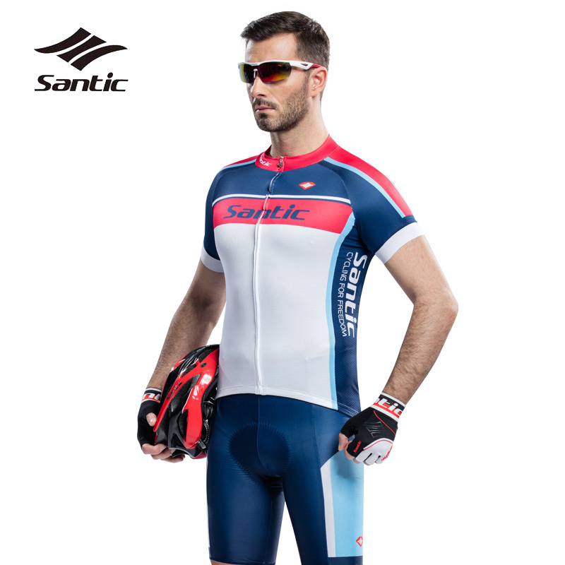 Santic Outdoor Short Sleeve Cycling Clothing Bicycle Breathable Cycling Jersey Men Road MTB Bike Sets Maillot Roupa De Ciclismo santic men cycling jersey 2017 pro team short sleeve downhill mtb jersey bike bicycle clothing ciclismo roupa breathable comfort