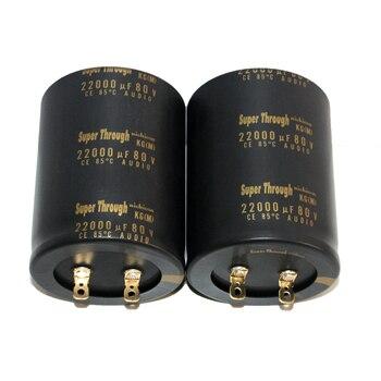 2pcs original nichicon Super Through 22000uf/80v KG series audio capacitor super capacitor electrolytic capacitors free shipping
