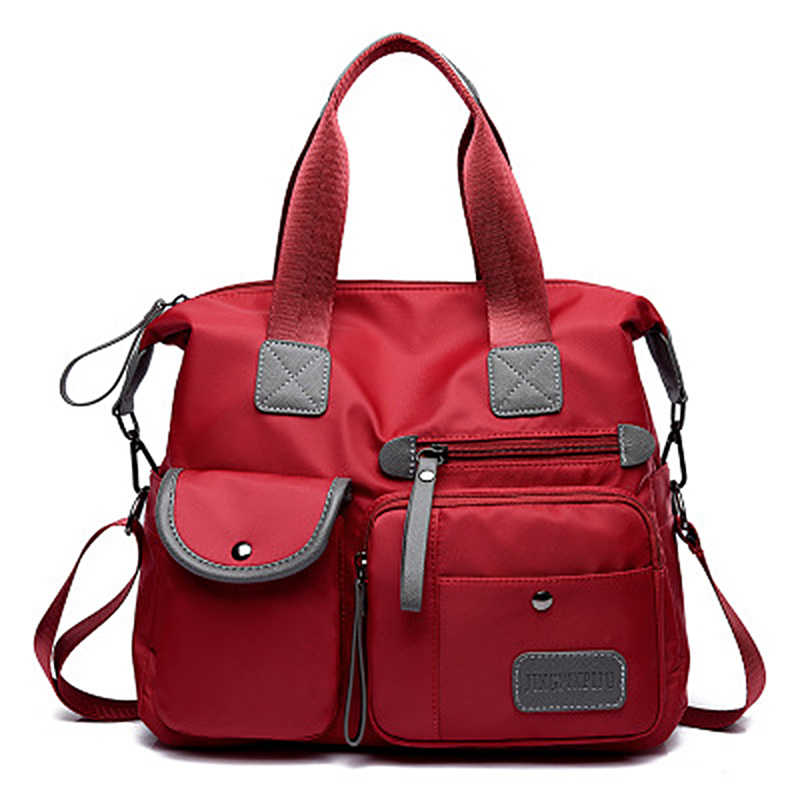 أزياء للماء النساء النايلون أكسفورد حقيبة يد حقيبة كتف كبيرة قدرة نمط Crossbody عارضة حقيبة ساعي مومياء حقيبة