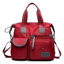 Moda su geçirmez kadın naylon Oxford çanta bayanlar Tote çanta rahat naylon omuzdan askili çanta mumya çanta büyük kapasiteli kanvas çanta