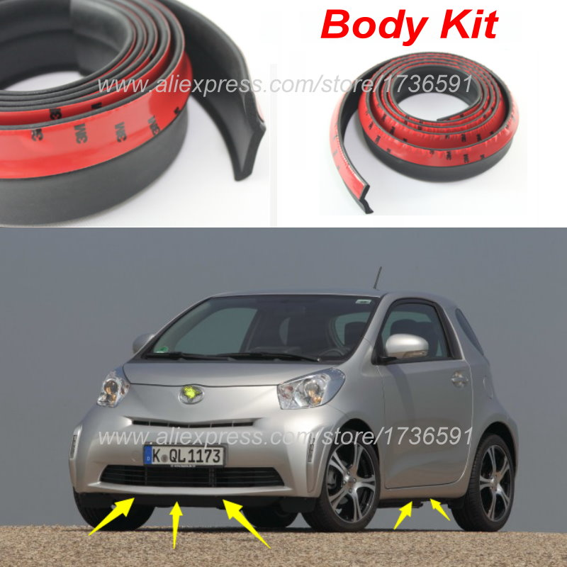 Auto Car Front Lip Deflector Lips Skirt For TOYOTA iQ For Scion iQ ...