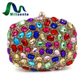 Milisente Women Party Bags Diamond Lady Wedding Evening Bag Clutch Bag Colorful Clutches Purse
