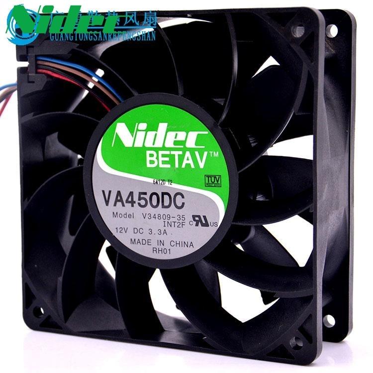 Nidec VA450DC V34809-90 Super forte 12 V 3.3A 12 CM 120mm axial serveur onduleur cpu ventilateurs de refroidissement d'ordinateur