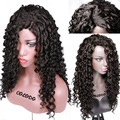Lace Front loose curly Wigs Natural Baby Hair Synthetic Lace Front Wig Black Hair Glueless Wig Heat Resistant for Black Women 8A
