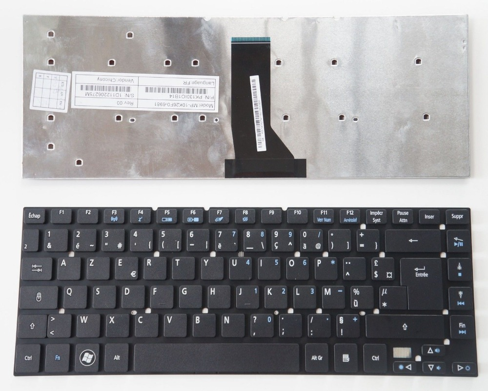 New Laptop keyboard for ACER Aspire 4830t 4830G 4830TG 4830Z 4755   FR  french  layout laptop keyboard for acer silver without frame bulgaria bu v 121646ck2 bg aezqs100110