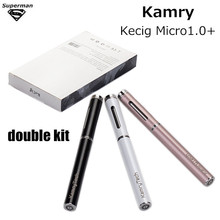 original Kamry Micro+ double kit 1ml tank 180mAh Vape Kit balck white Electronic Cigarette E-cigarettes Vaporizer vape pen