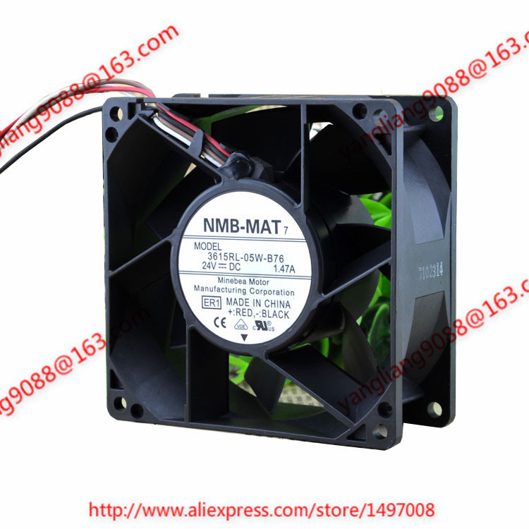 NMB-MAT 3615RL-05W-B76, ER1 DC 24V 1.47A, 90x90x38mm 110mm Server Square fan free shipping nmb new 1611vl 05w b49 4028 4cm 24v cooling fan
