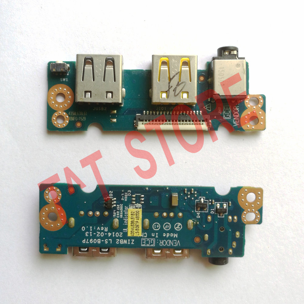 Brand For Lenovo E40-30 E40-70 Usb Board Audio Board Ls-b097p Test Good Free Shipping Quality And Quantity Assured Computer Cables & Connectors