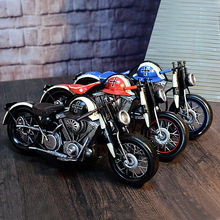 Motorcycle model retro motor statue metal Crafts Handmade iron Vintage Germany motorcycle props home decoration 48*20*21cm