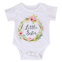 Baby Kid Girl Little Big Sister Cotton Clothes Jumpsuit Romper Outfits T Shirt B