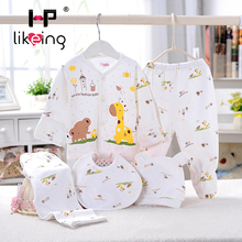 5pcs/set 100% Cotton lovely Shirt and Pants Suits for Newborn Baby clothes Infant Clothing Set Brand baby girl boy born clothes