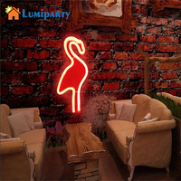LumiParty Creative Flamingo LED Wall Hanging Lamp Bar Party Club Decor Neon Sign Design Romantic Dim