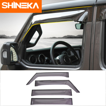2018 For Jeep Wrangler JL Rubicon Sahara Unlimited 4 DDOR 2 DOOR Car Window Visor Door Rain Sun Shield Side Windows Cover игрушка bruder внедорожник jeep wrangler unlimited rubicon полиция с фигуркой 02 526