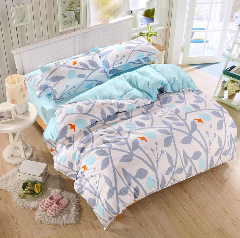 soft and comfortable bedding set 4 pcs twin full queen size duvet cover set