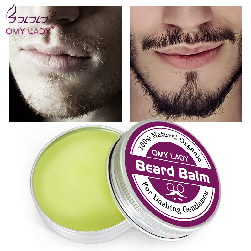 OMYLADY New Style Natural Beard Balm Beard Conditioner Professional  Beard Growth Organic Mustache Wax For Beard Smooth Styling