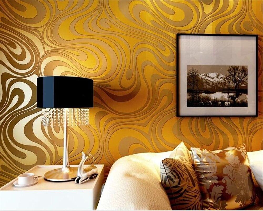 Papier peint papier peint 3D papel de parede individualité papier peint rayé abstrait KTV Bar or violet noir papier peint rouleau Beibehang