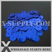 5mm Round Flat Loose Sequin Paillette For Shoe Bag Clothing Lt Blue Metallic Bulk Wholesale