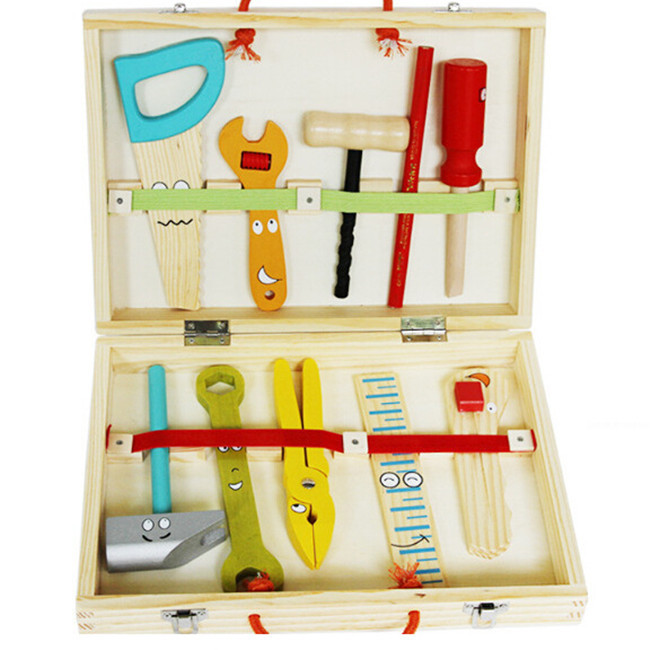 New wooden toy Educational Toys wooden tool set Baby toy Free shipping