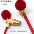 Original KINERA BAS03 1BA Unidade HIFI Fone de ouvido DIY Qualidade do Som Baixo Pesado Fones de Ouvido Música de ALTA FIDELIDADE Fones de Ouvido DJ Fones De Ouvido